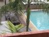 Ons hostel in Perth heeft een zwembad, maar het regent