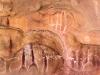 waarop zij eeuwen geleden rotstekeningen aanbrachten.