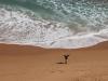en daar klauter ik ver voor af naar het strand...