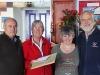 We kregen vrijdag een warm afscheid van het Hostel-stel in Hobart,