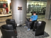 In de grote winkelcentra vind je gezellige zithoekjes en WiFi,