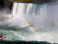 naar de Falls - waar we nu ook een prachtige regenboog in zien!