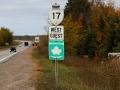 we vertrekken; en van Gatineau naar Pembroke komen we nu ook op de Trans Canada Highway,
