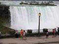 En hier zit Corry op vrijdagmorgen al bij de Niagara Falls en geniet: