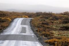 130 We rijden dan al gauw het Nationale Park Þingvellir in,