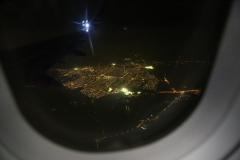 155 en diezelfde avond nog terug naar huis te vliegen.
