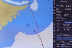18 want als we in het open water in de Danmark Straede naar Groenland varen
