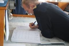 """25 en in het scheepsjournaal noteert hij dan ook echt """"70 knots""""."""