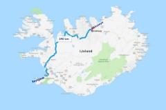 5 En ook daarna is het nog een erg lange rit naar de haven van Akureyri in het noorden van IJsland,