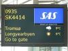 om ons via Tromsø naar Spitsbergen te brengen.