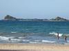 vaar ik naar Pigeon Island, een eilandje voor de kust,