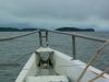 Naast Île Royale zie je dan - hier rechts-, Île Saint-Joseph voor de boeg,