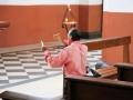 125 Woensdag lopen we in Santa Cruz de ls Sierra (in Bolivia) een stille kathedraal in