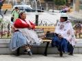 183 'Moekes' zitten ontspannen op het Plaza in het zonnetje te kletsen