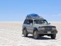197 Vanuit Uyuni maken we een tourtocht naar al weer een droombestemming, een grote zoutwoestijn!