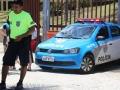 28 Aangekomen bij de boulevard van Rio de Janeiro zien we echt overal politie,