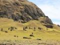 383 Zaterdag toeren we over het eiland, op zoek naar MOAI, Paaseiland-beelden