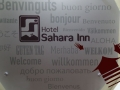 421 Terug in Santiago worden we weer in onze eigen taal verwelkomd in Hotel Sahara Inn